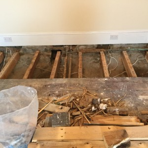 Exposed joists