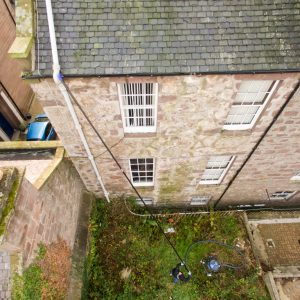 Gutter cleaning at Evan Street, Stonehaven rear