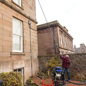 Gutter cleaning at Evan Street, Stonehaven