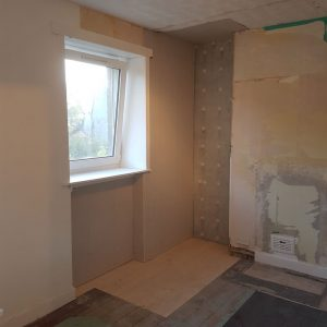 plasterboard fitted