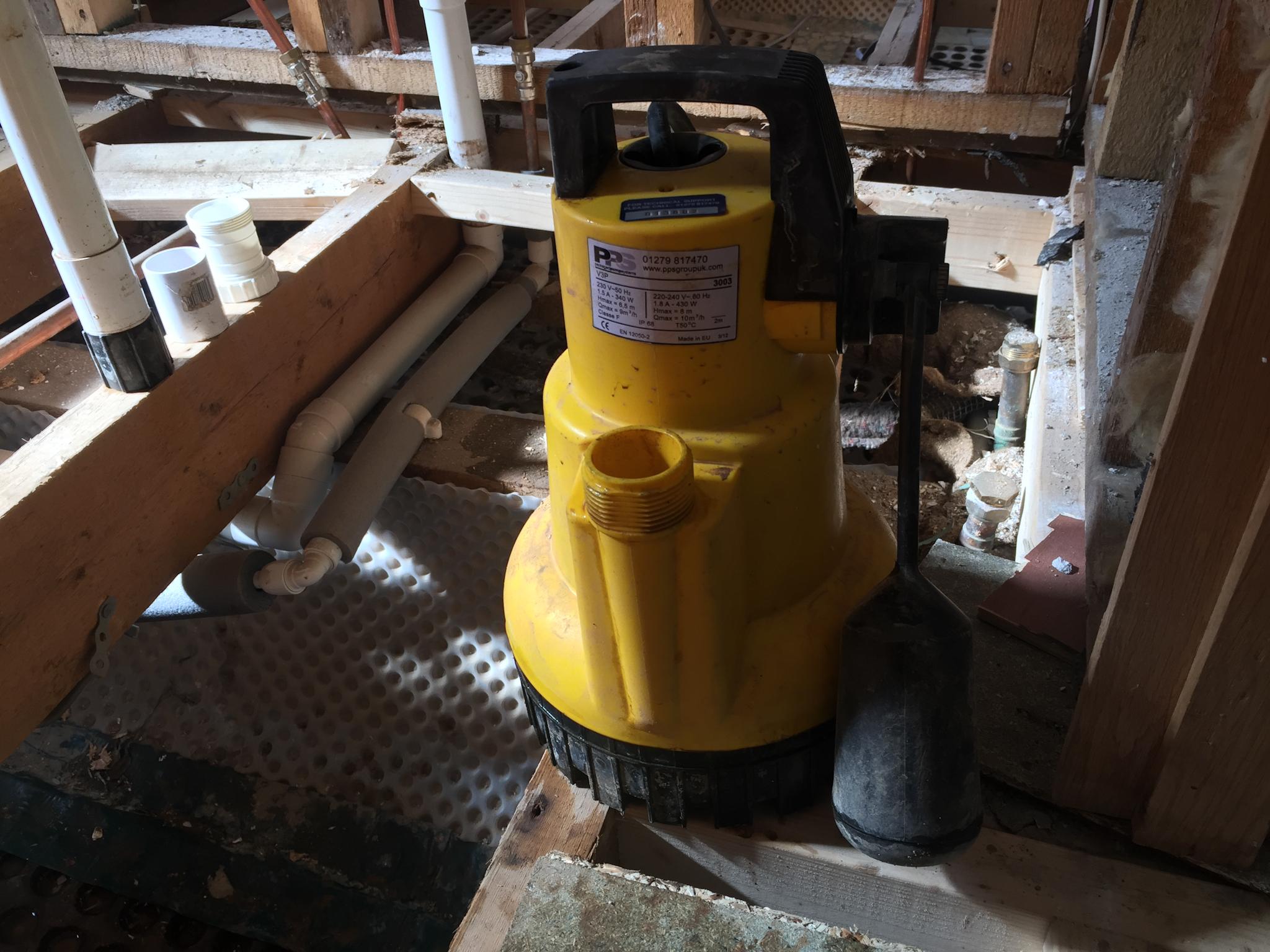 contaminated pump
