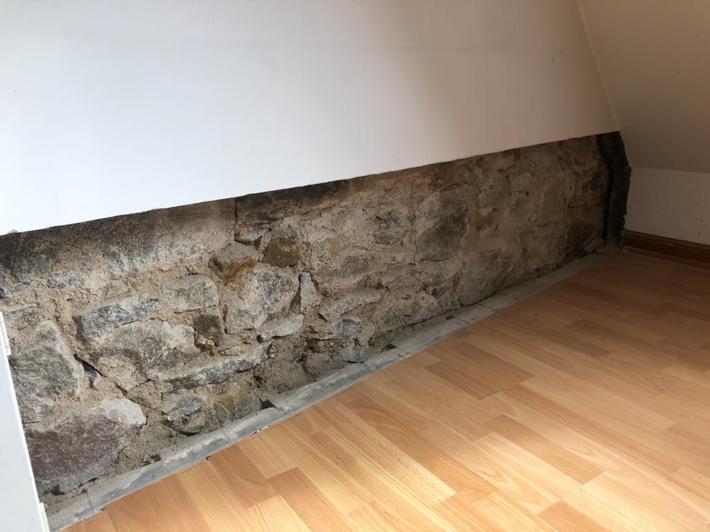 upper floor exposed